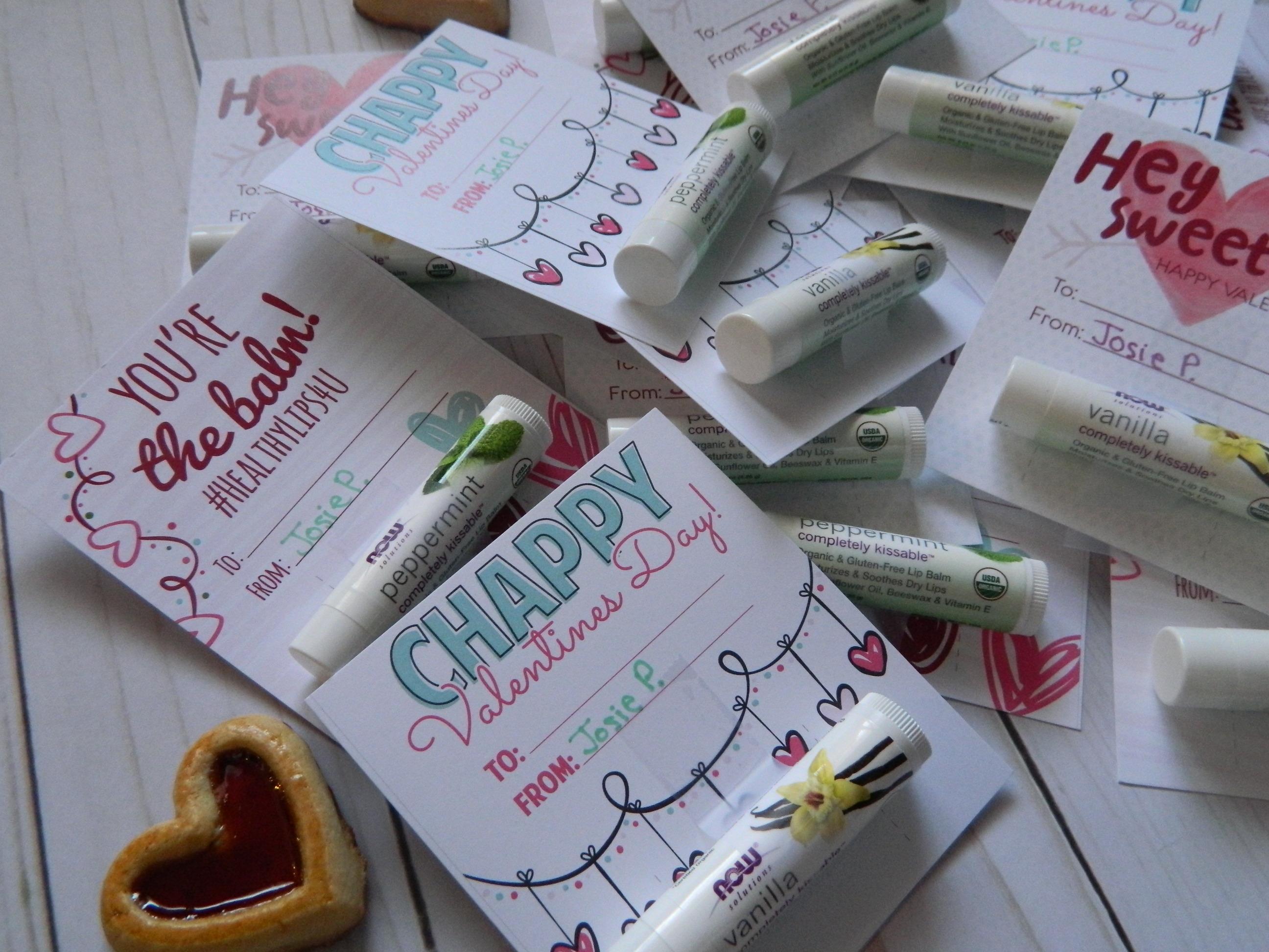 Lip Balm Valentines Day Cards