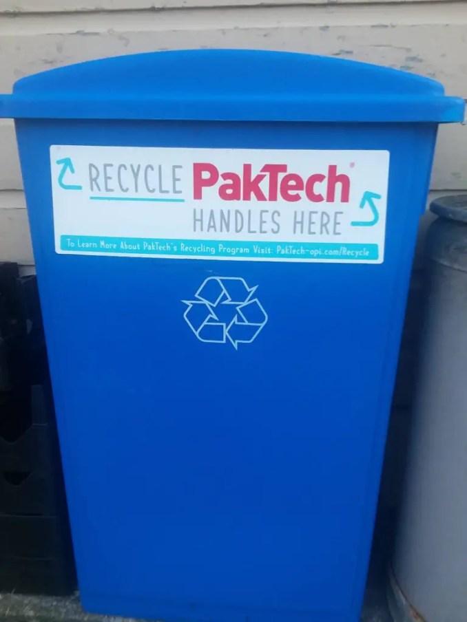 PakTech can carrier recycling bin