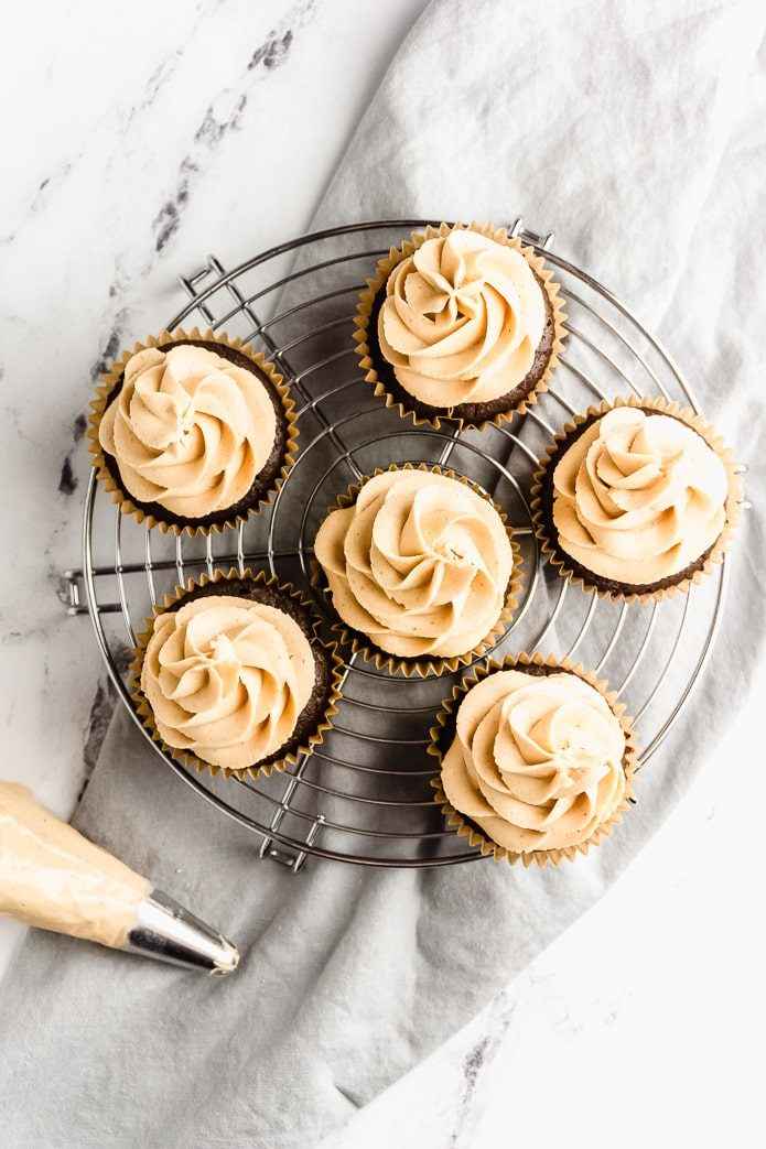 Chocolate Peanut Butter Keto Cupcake