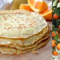 Blood Orange & Ricotta Crepes Suzette