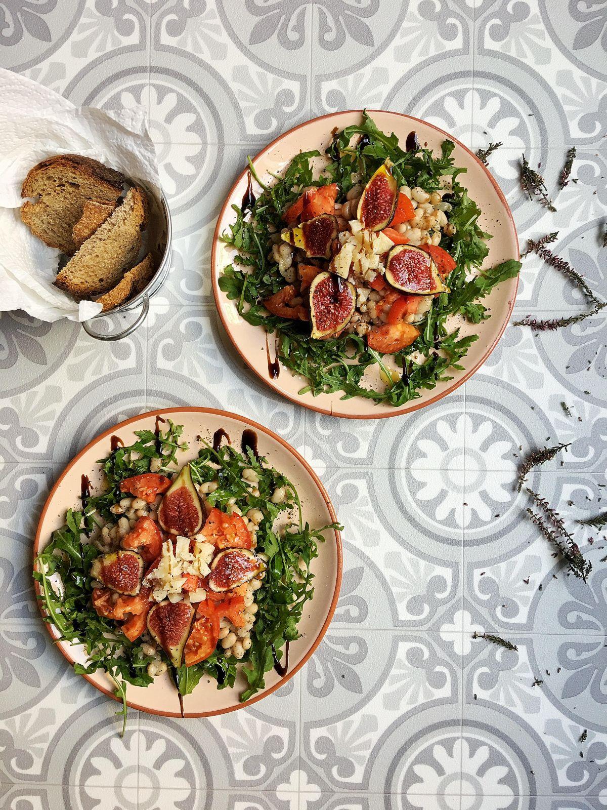 Salade d'haricots blancs et de figues