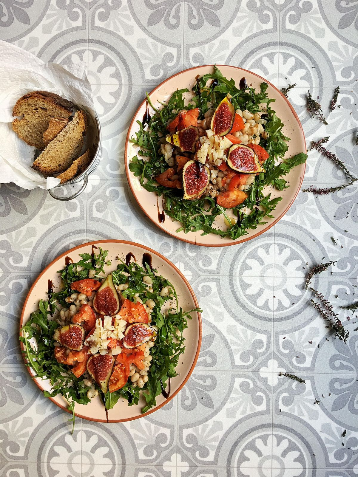 White beans and fig salad