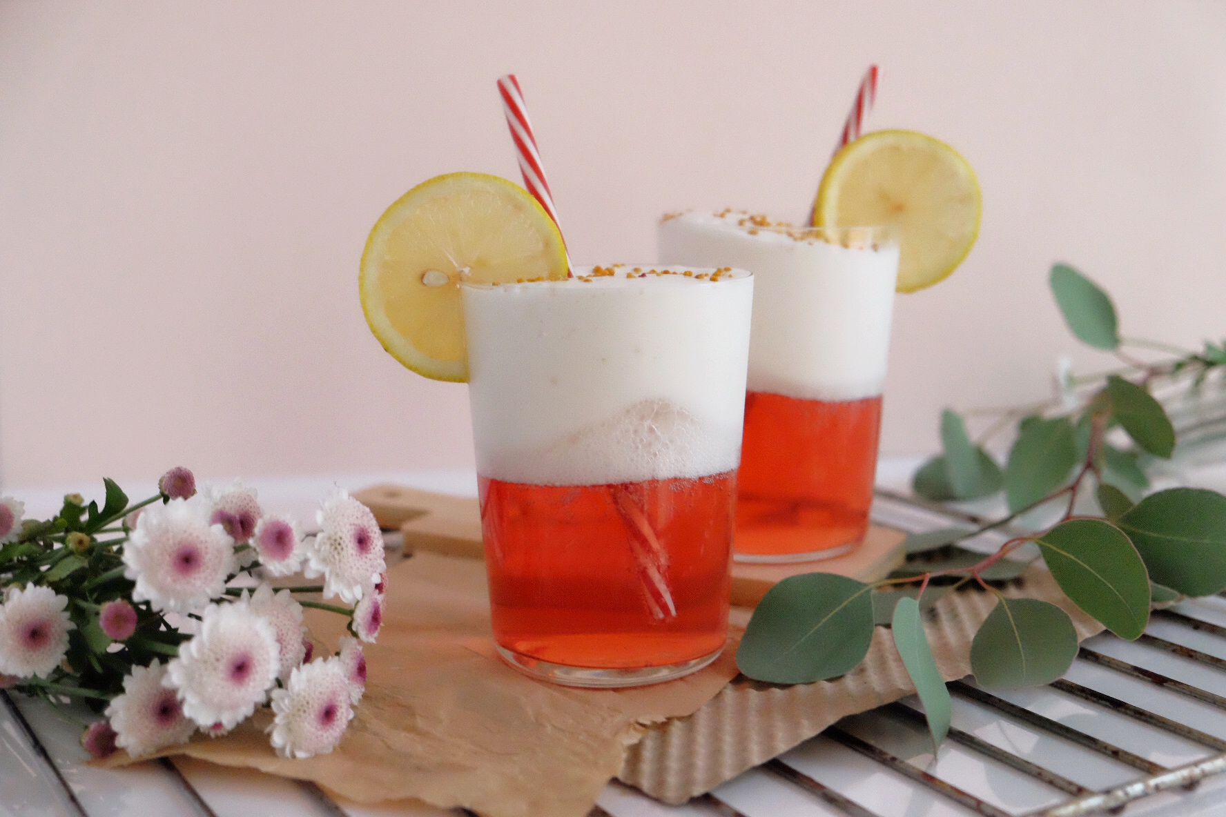 Cocktail d'amande et de canneberge