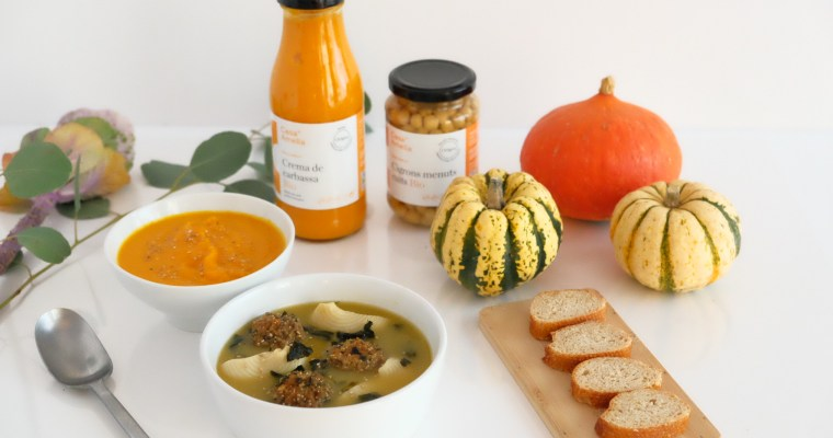 Vegetarian galets soup