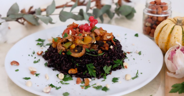 Veggie black rice