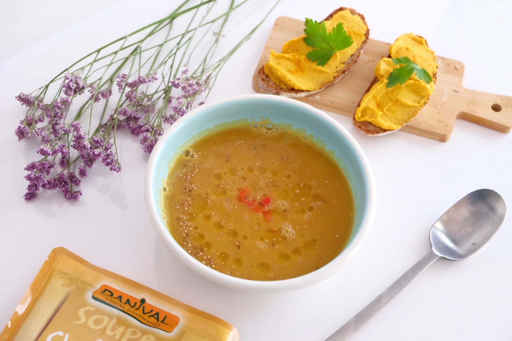 Houmous pois chiche/carotte