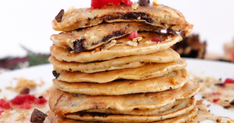 Pancakes with choco chips