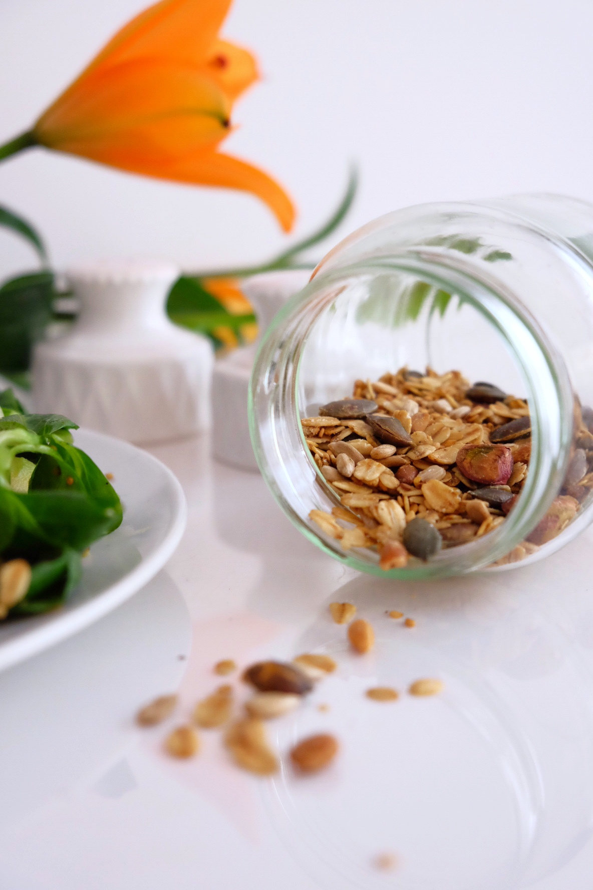 La granola salada casera