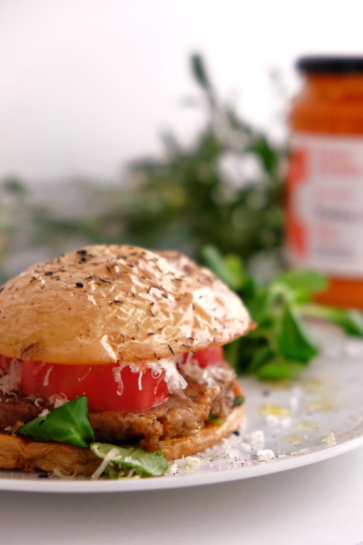 Burger vegetariana sin pan