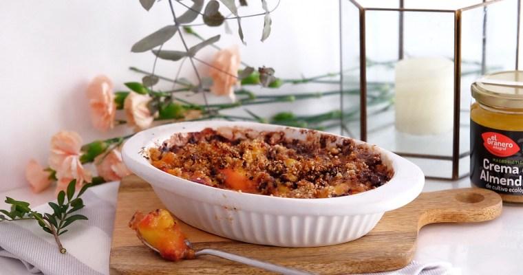 Crumble aux abricots et nectarines