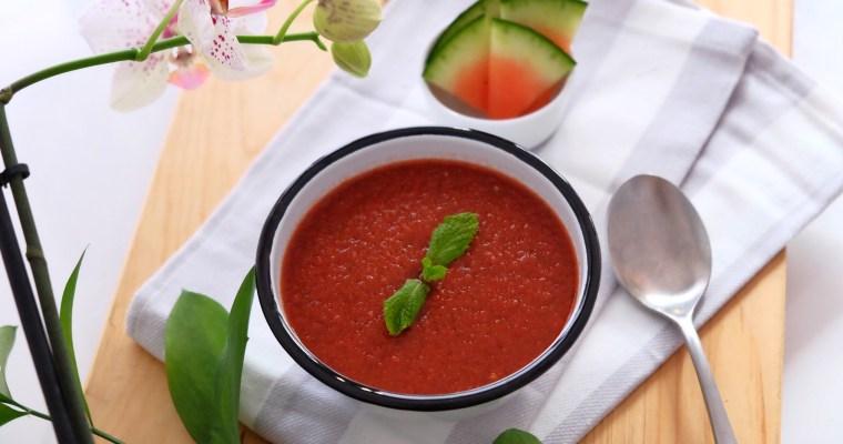 Heathy watermelon gazpacho