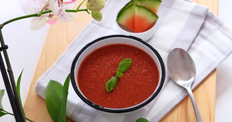 Heathy watermelon gazpacho