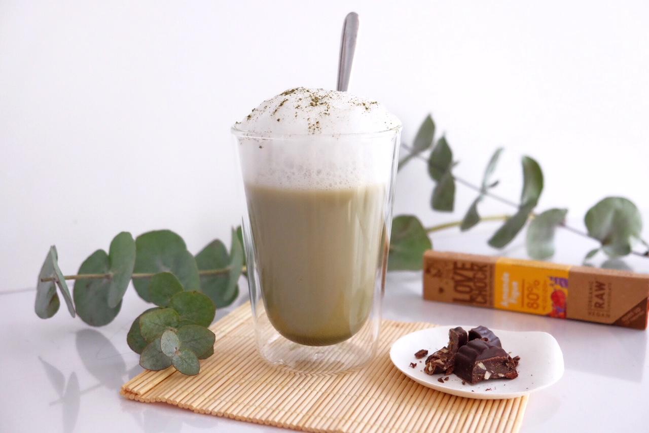Onctueux lait de coco matcha