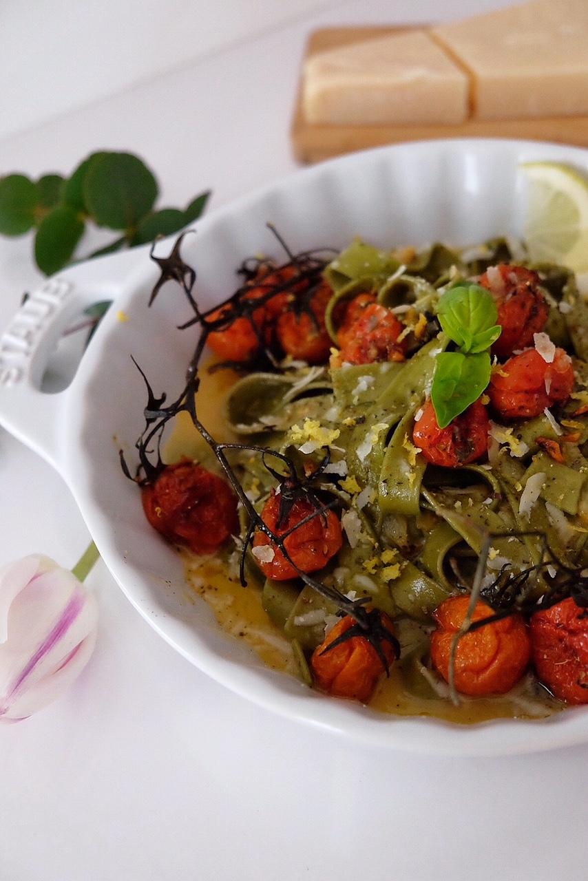 Tagliatelles à la sauce carbonara végétarienne