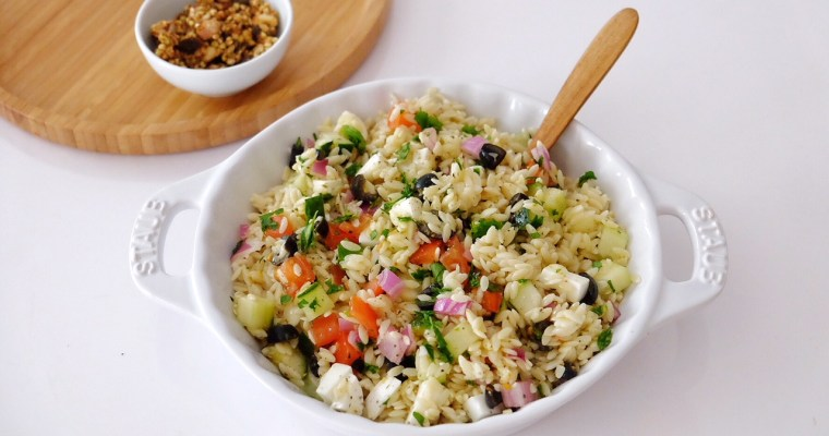 La salade estivale de pâtes grecques