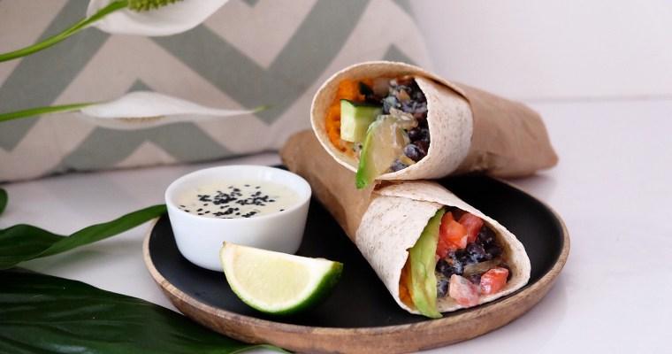 Veggie Wrap à la sauce yaourt/ciboulette