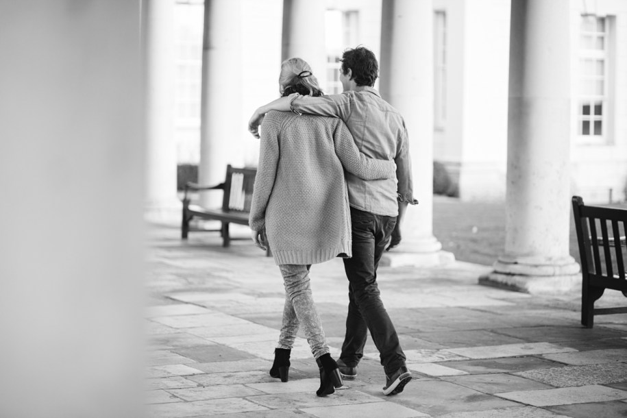 Couple photos at Greenwich Naval College by Greenwich wedding photographer