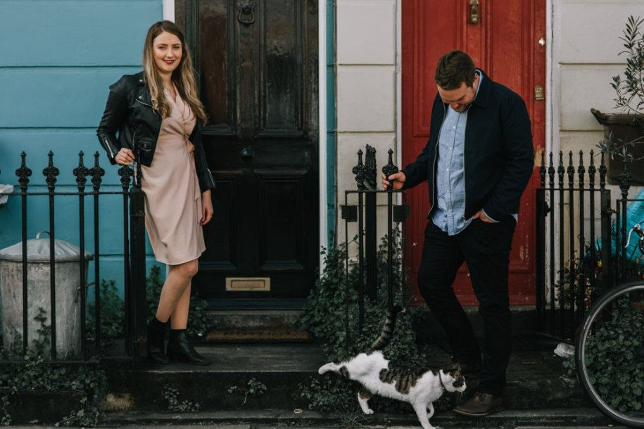 Morning Pre Wedding Shoot in Kentish Town North London by London wedding photographer | Green Antlers Photography