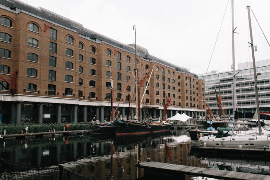 Ships on the river at St Katherine's Docks