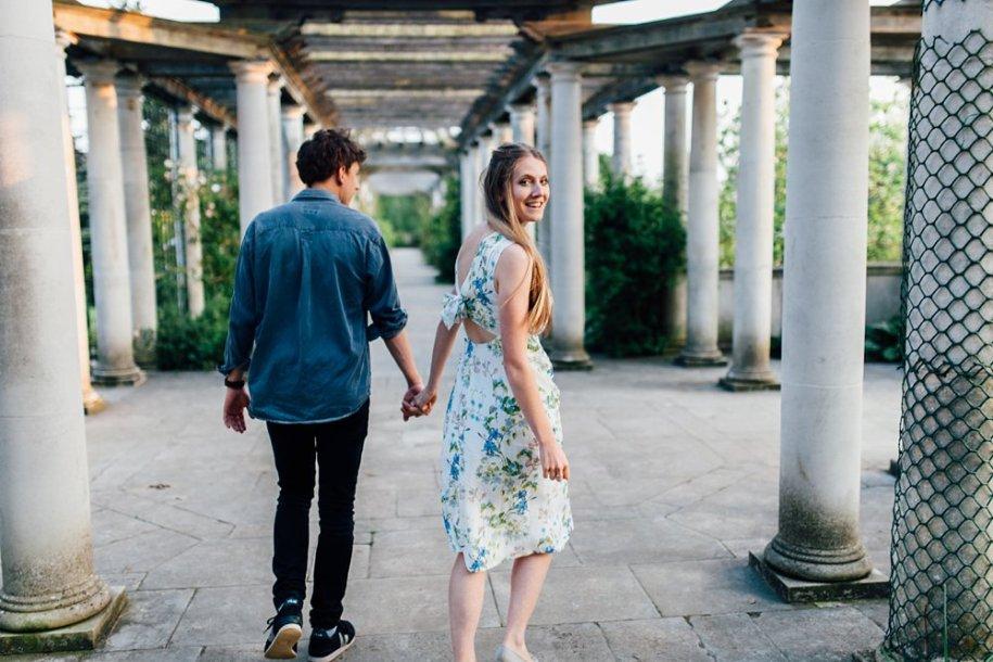 Hampstead Pergola and Hill Gardens Engagement shoot