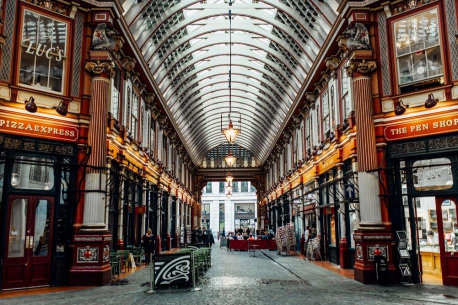 London's hidden gems and photo shoot location Leadenhall Market