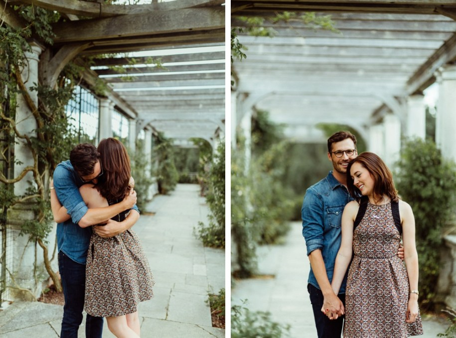 Pergola and Hill Gardens engagement session