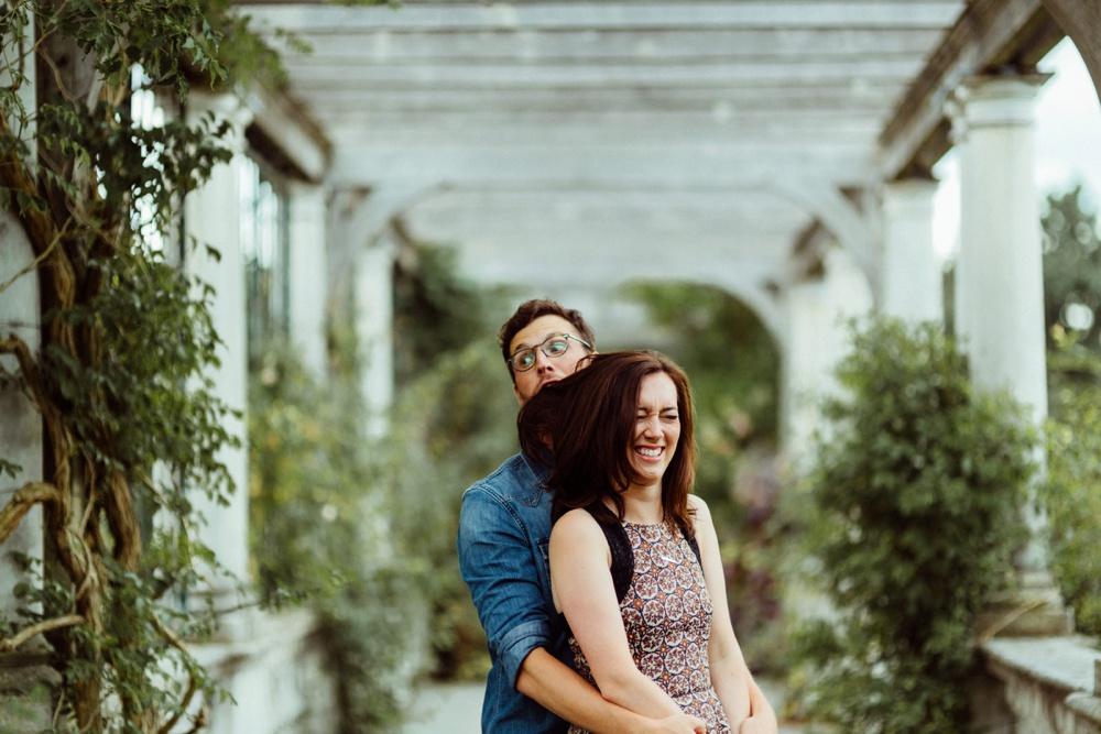 funny couple at Pergola and Hill Gardens, London's Hidden treasures