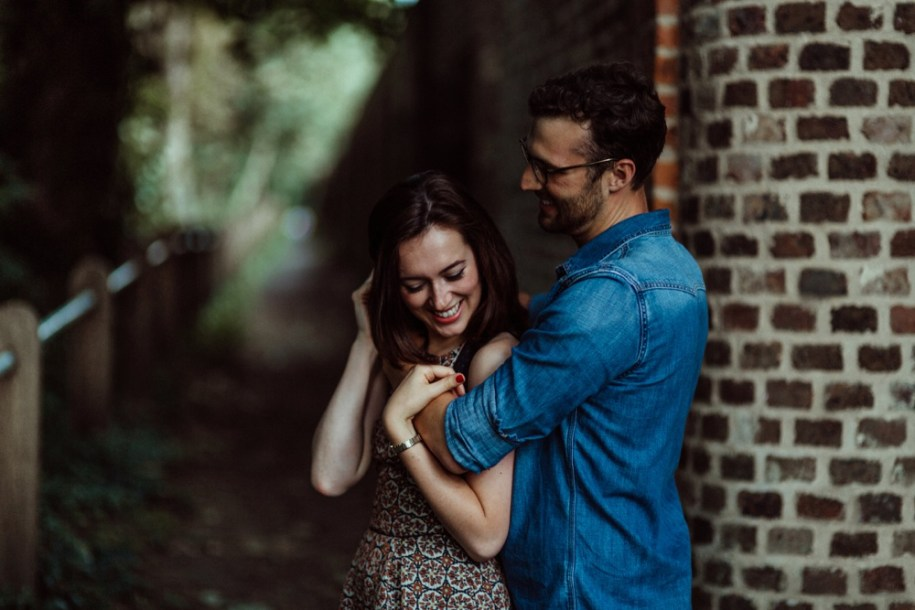 engagement shoot at Pergola and Hill Gardens in Hampstead Heath London
