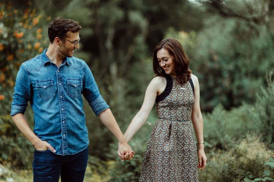 engagement shoot in Hampstead heath London