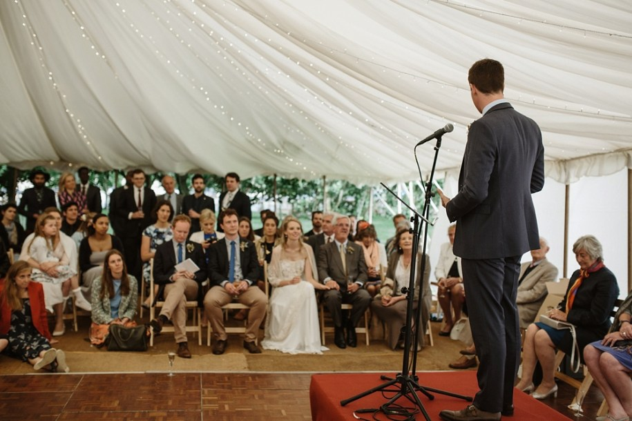 marquee wedding speech