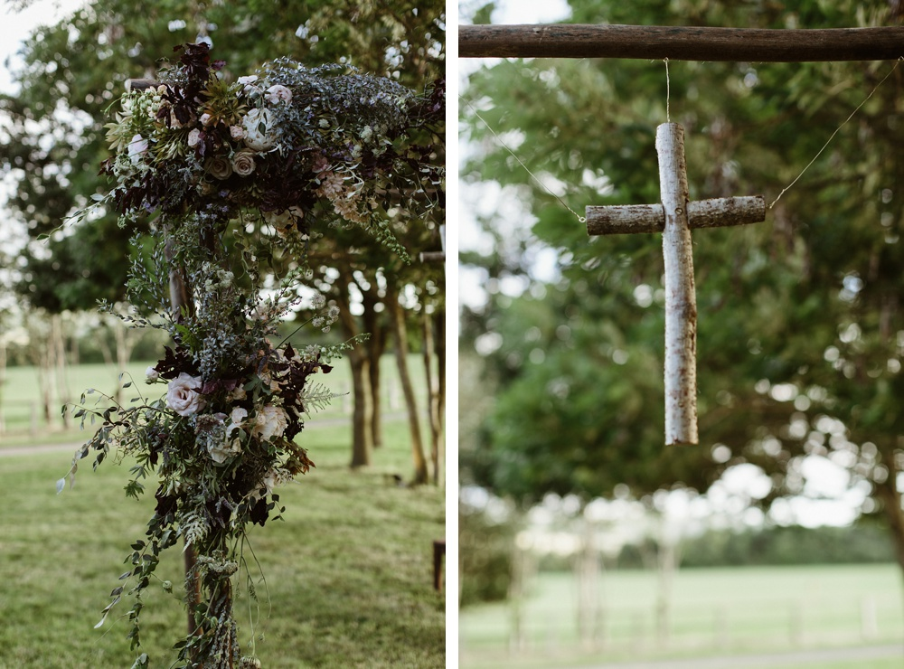 wedding details at garden wedding
