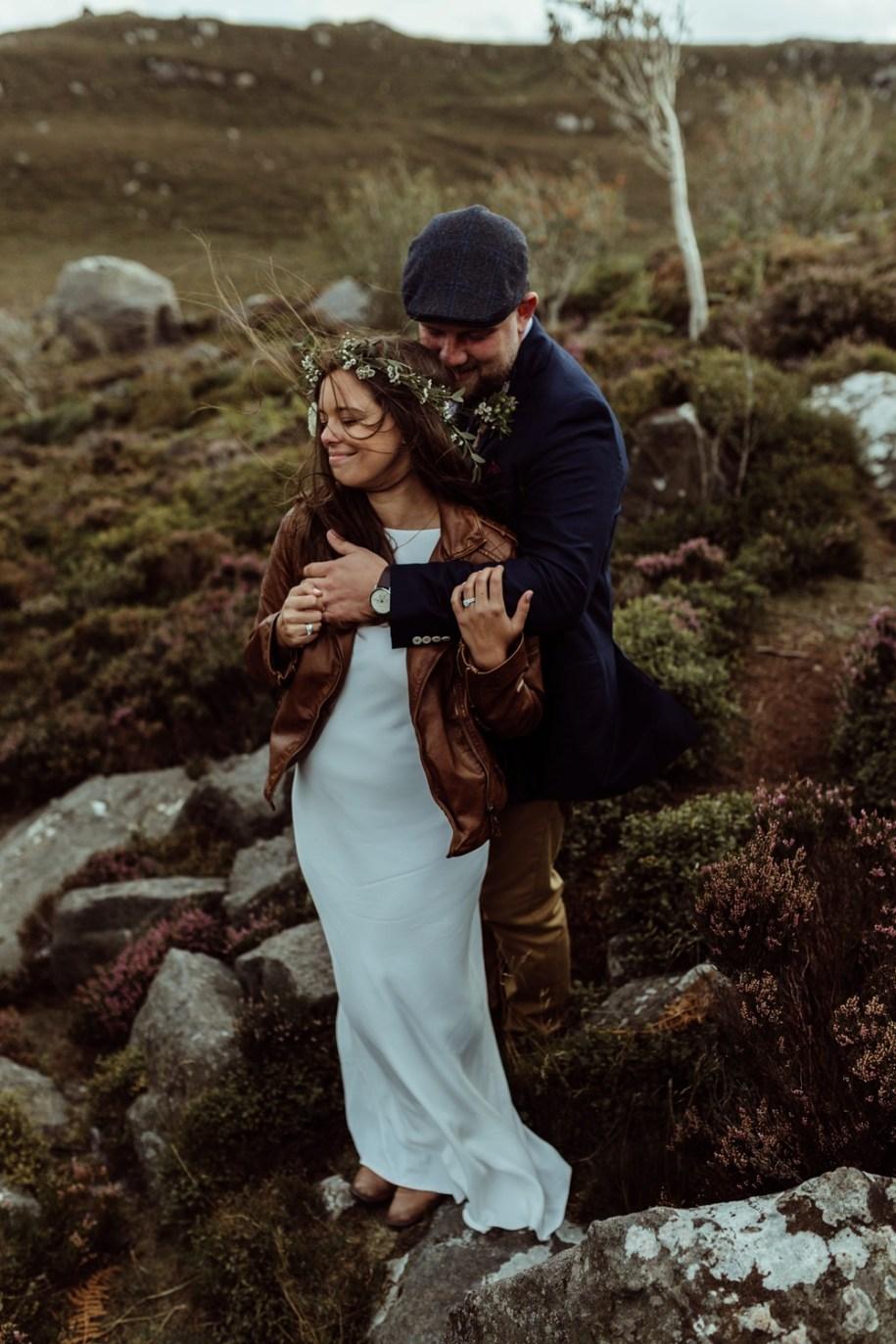 Northumberland elopement portrait shoot