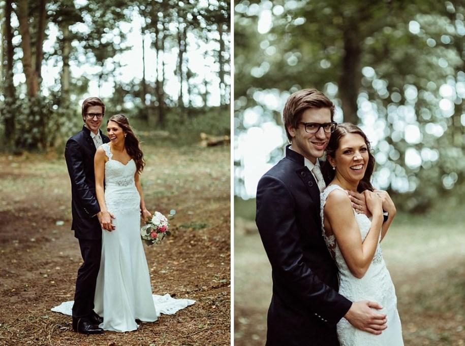 wedding photos in forest