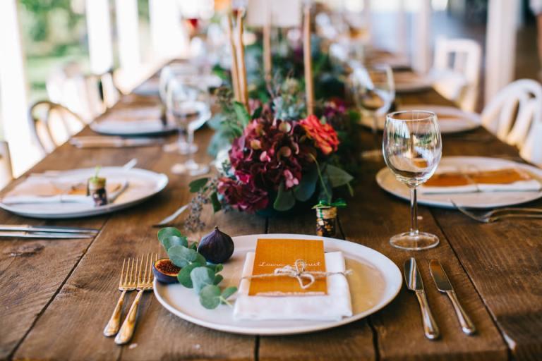 bohemian wedding table decorations