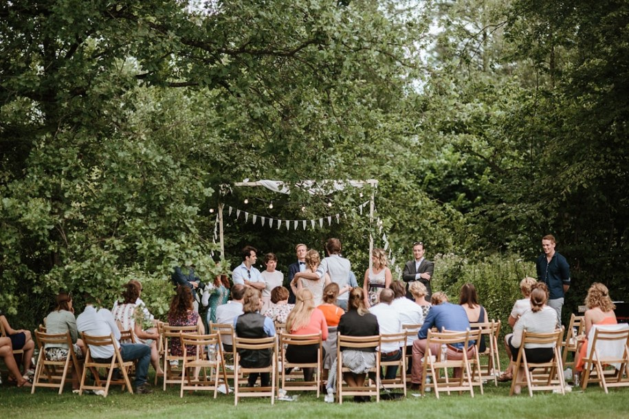 festival themed outdoor ceremony