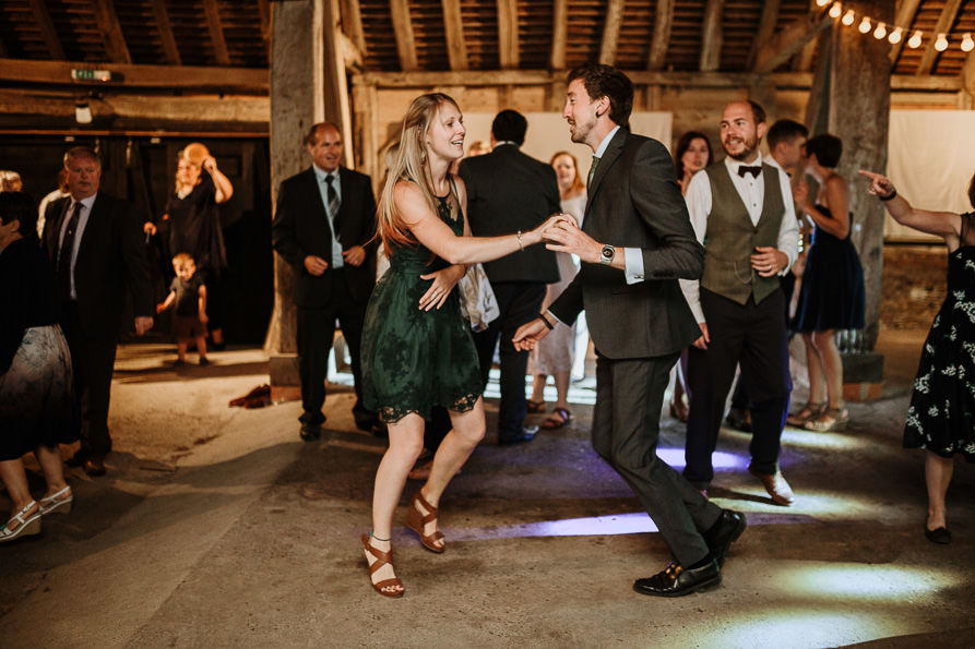 Wanborough Great Barn wedding guests