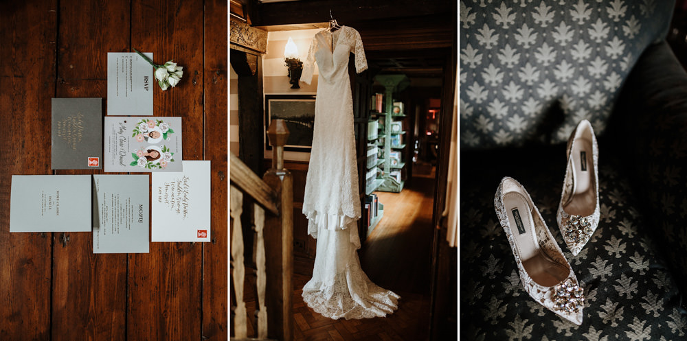 wedding details at bride private property