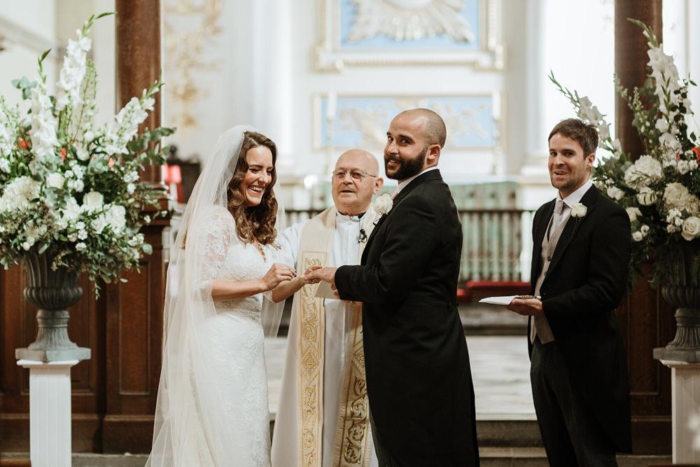 ring exchange for church wedding ceremony dorset