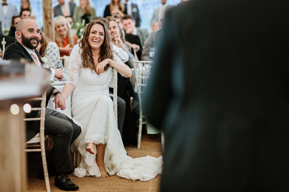 wedding speeches during marquee wedding