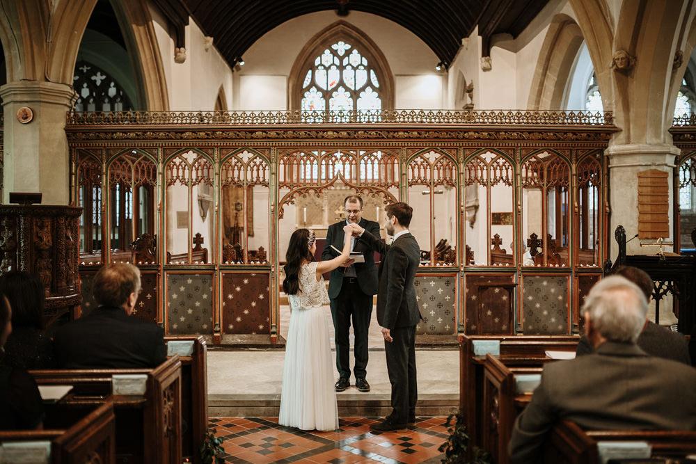 wedding ceremony blessing Bristol wedding photographer