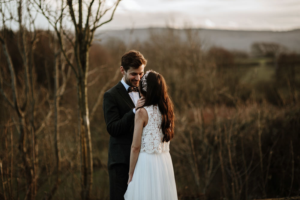 Intimate wedding at the ethicurean restaurant by Bristol wedding photographer