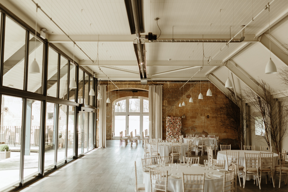 Cotswolds wedding barn wedding reception