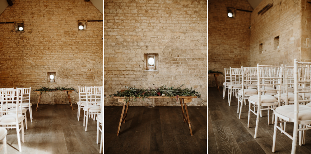 details of the wedding ceremony at Lapstone Barn