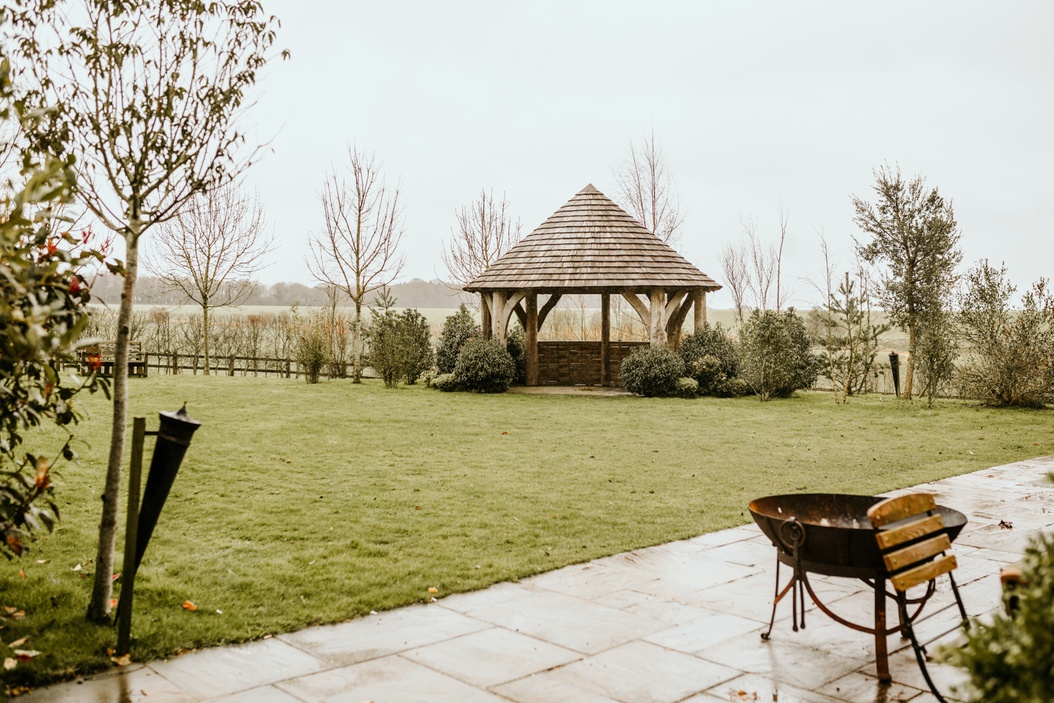 garden area from Cripps Barn Wedding Venue Cotswolds