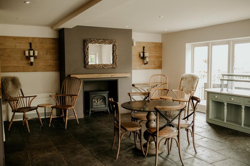 inside Hyde House Cotswolds Wedding Barn
