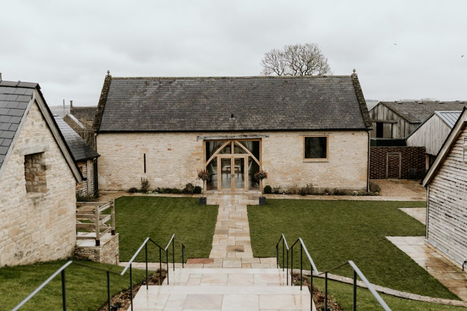 Cotswolds wedding venue at The Barn at Upcote by Cotswolds wedding photographers