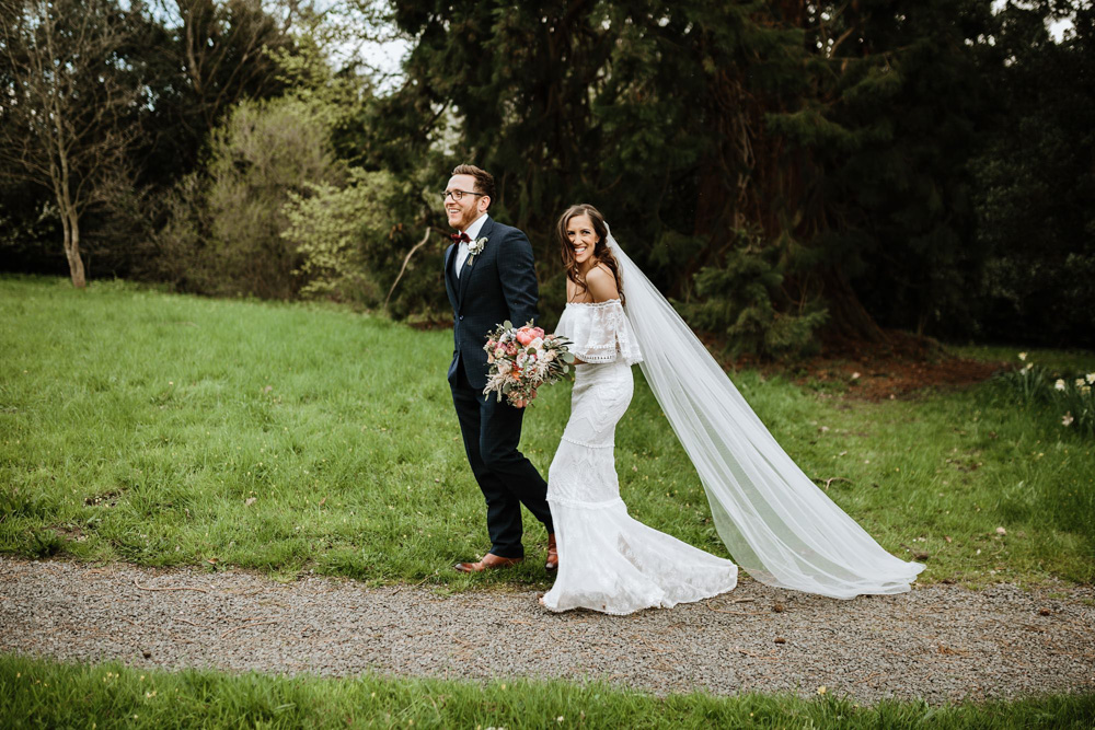 Wales wedding photographer at plas dinam country house