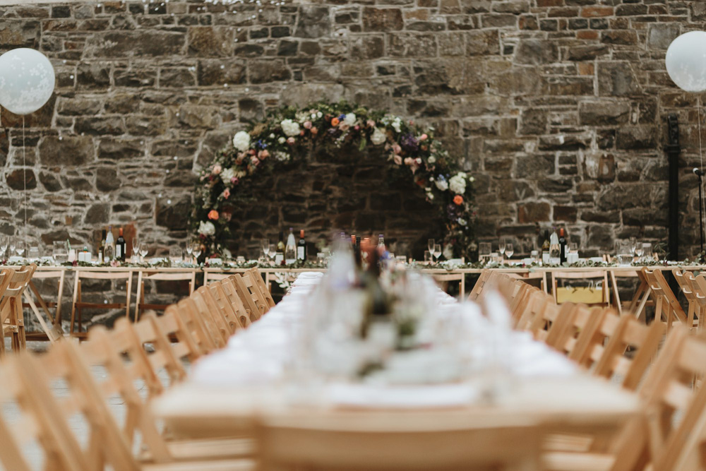 reception decor at plas dinam country house Wales
