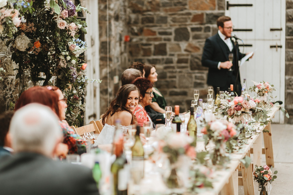 grooms speech at plas dinam country house wedding reception