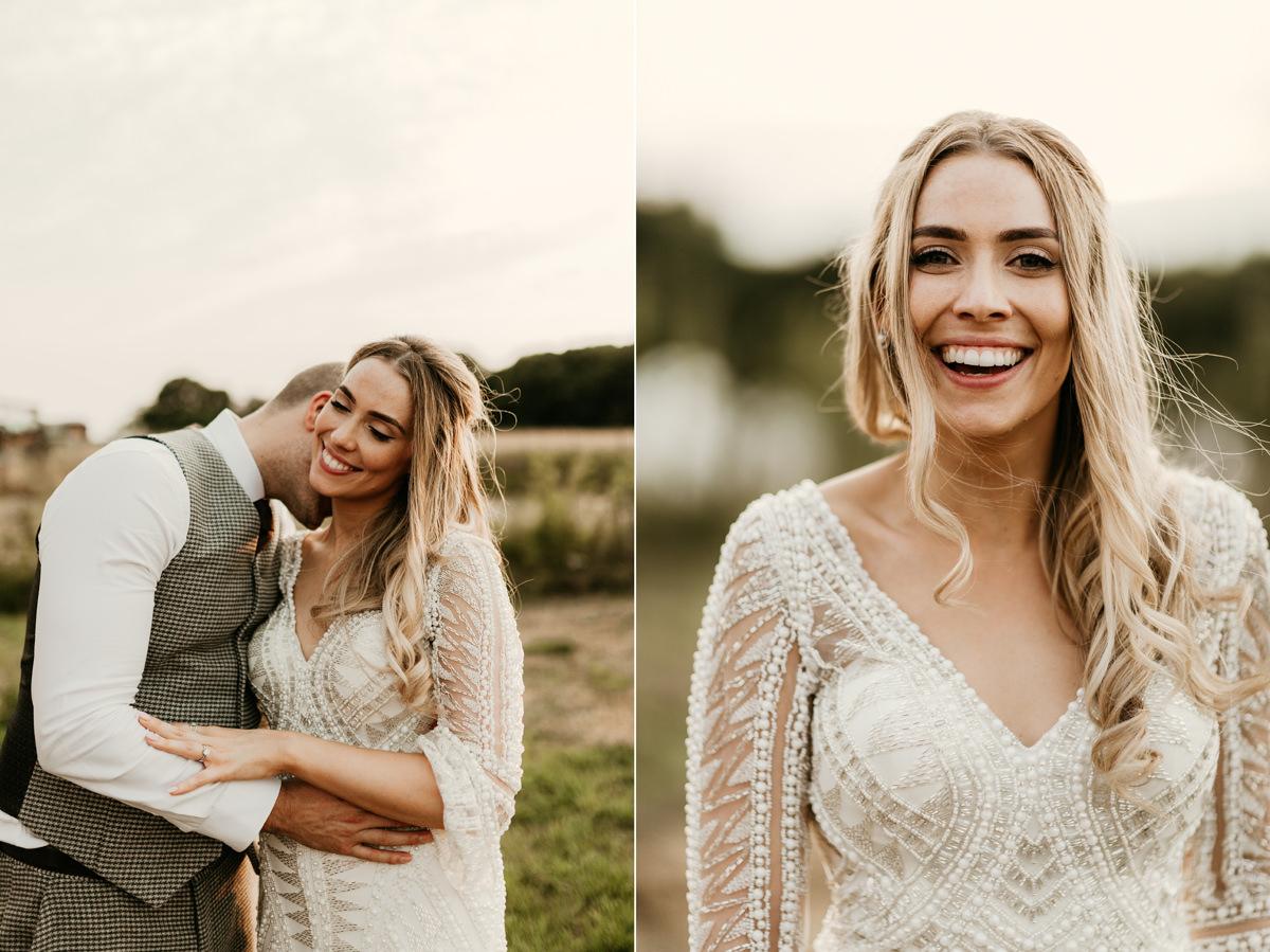 fun wedding portraits during the photo shoot at preston court wedding venue by Canterbury wedding photographers